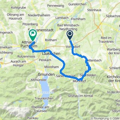 Feldham 55 nach Brunnengasse 104, Attnang-Puchheim