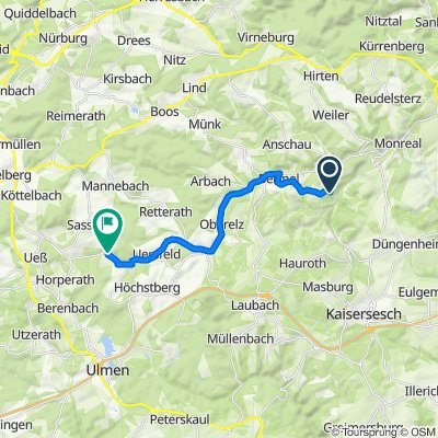 Route nach Hauptstraße 9, Uersfeld