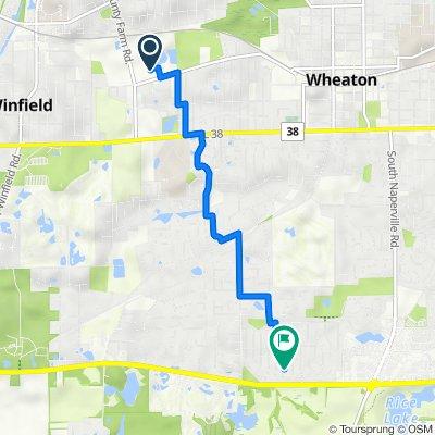 Route to 2038 Greensboro Dr, Wheaton