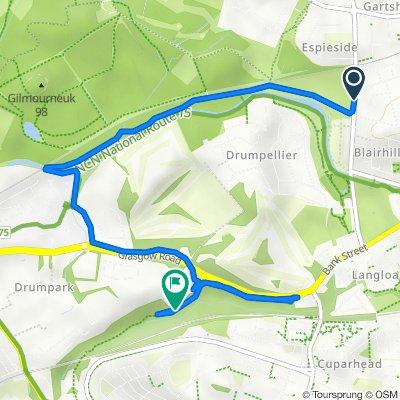 Route to 53–67 Crawhill Dr, Coatbridge