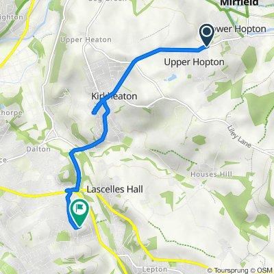 Hopton Lane 102 to Mountfield Road 94