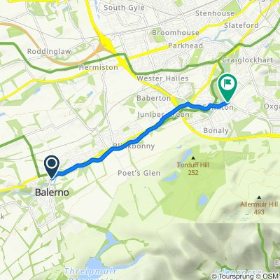1A Bridge Road, Balerno to 296B Colinton Road, Edinburgh