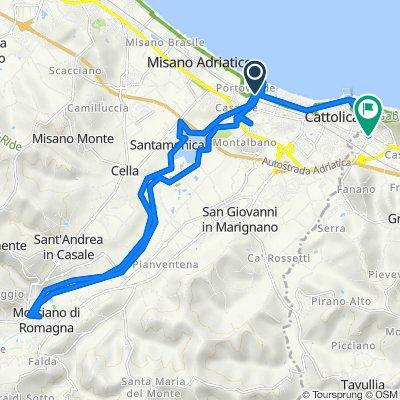 Da Via Litoranea Sud, Misano Adriatico a Via Riccardo Zandonai 1, Gabicce Mare