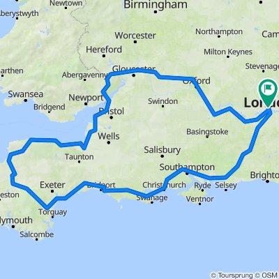 England south coast trip