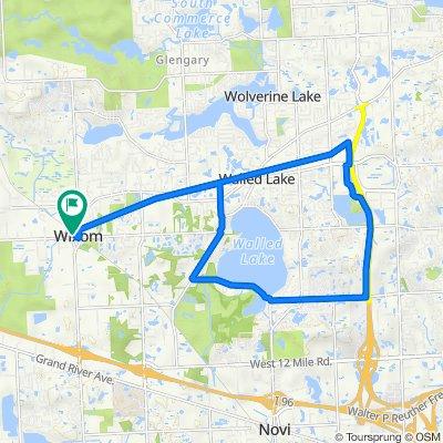 Airline to 13 mile Walled Lake Loop