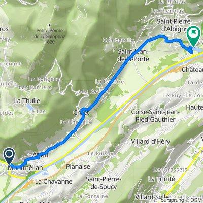 De Avenue Pierre de la Gontrie, Montmélian à 670 Allée du Lac, Saint-Pierre-d'Albigny