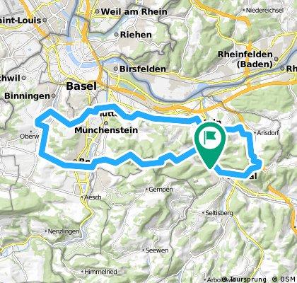 Füllinsdorf mit Umweg nach Oberwil