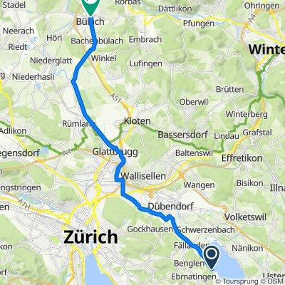 Fällandenstrasse, Maur nach Winterthurerstrasse, Bülach