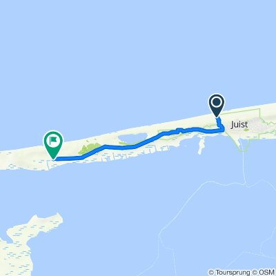 Route von Strandpromenade, Juist