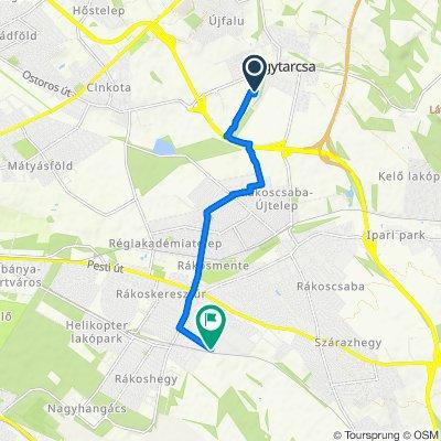 Zsurló utca 19., Nagytarcsa to Ásvány utca 90., Budapest XVII. kerület