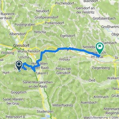 Entschendorf 114, Entschendorf bei Gleisdorf nach Nestelbach 128, Nestelbach im Ilztal