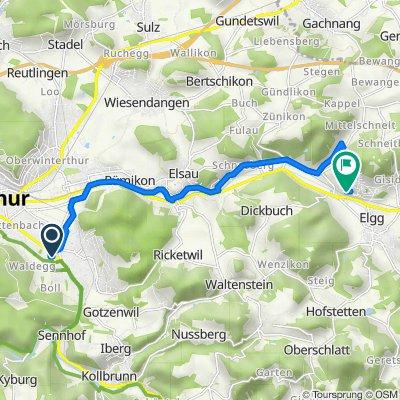 Heinrich-Bosshard-Strasse 7, Winterthur nach Stutzstrasse 27, Elgg