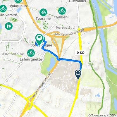 De Route d'Espagne, Toulouse à 232–236 Route de Seysses, Toulouse