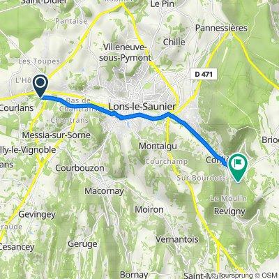 Itinéraire à partir de Avenue Edgar Faure, Courlans