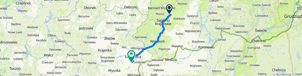 Trzciany do Droga Wojewódzka 242 32, Szczerbin