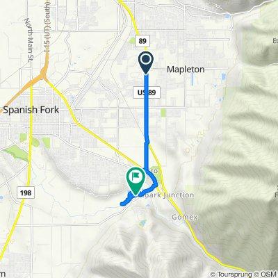 88–198 S 1600 W, Mapleton to 2200 E Powerhouse Rd, Spanish Fork