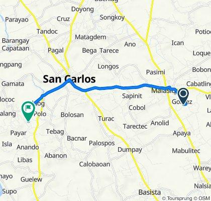 Banaoang Brgy Road, Malasiqui to Unnamed Road, San Carlos City