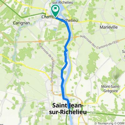 Chambly à St-Jean-sur-Richelieux (aller-retour)