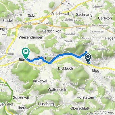Stutzstrasse 27, Elgg nach Heinrich Bosshard-Strasse 8, Elsau
