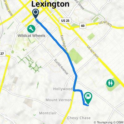 101–113 E Maxwell St, Lexington to 115 Louisiana Ave, Lexington