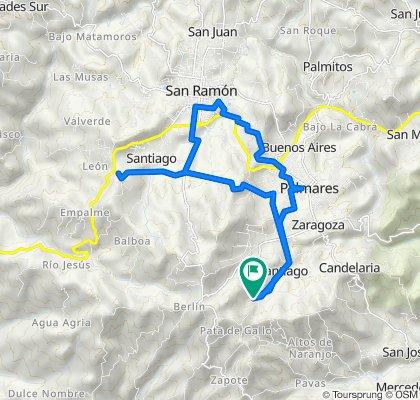 De C/ La Mina, Santiago a C/ La Mina, Santiago