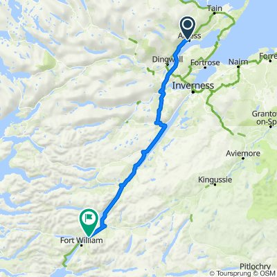 DAY 2: Route from Westmore, Alness to Fort William