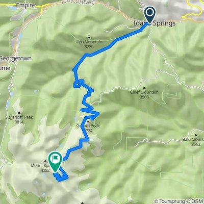 Idaho Springs to Mt Evans