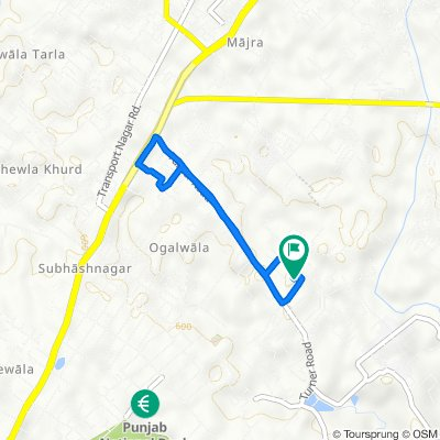 Turner Road, Dehradun to Turner Road, Dehradun