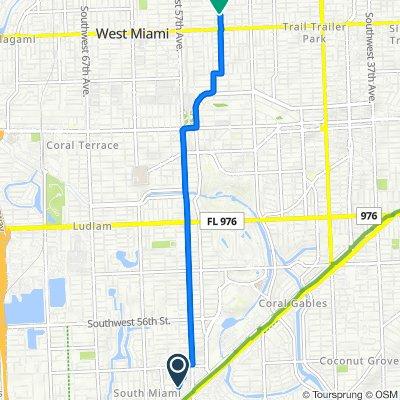 5815 SW 68th St, South Miami to 5251 SW Fifth Terr, Miami
