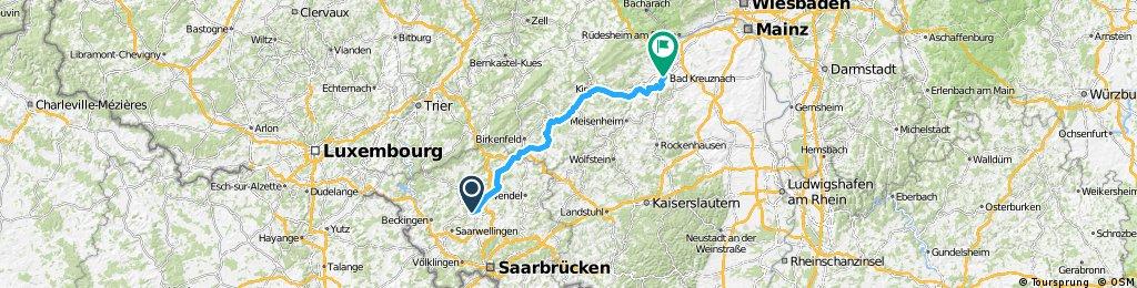 1993 - Mosel rauf - Nahe runter - 6. Tag - Lebach - Bad Kreuznach