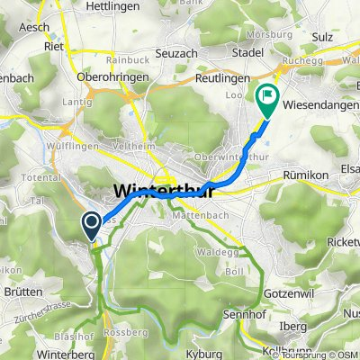 Zürcherstrasse 240, Winterthur nach Albert-Einstein-Strasse 9–51, Winterthur