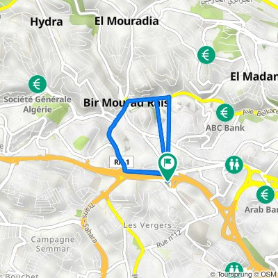 Route to Rocade Sud, Bir Mourad Raïs
