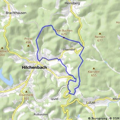 Radtour Hilchenbacher Höhenweg