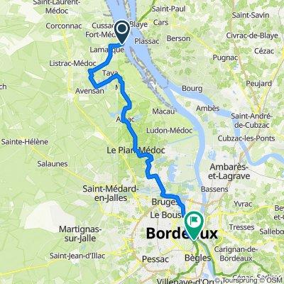 Route du Port 20, Lamarque to Pont Saint-Jean, Bordeaux