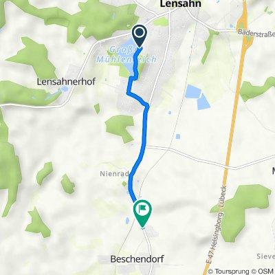 Doktor-Julius-Stinde-Straße 13, Lensahn nach Lensahner Straße 40, Beschendorf