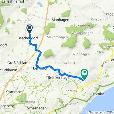 Lensahner Straße 30–34, Beschendorf nach Brenkenhagener Weg 56, Grömitz