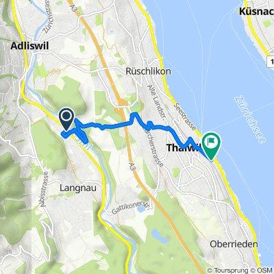 Obstgartenweg 10, Langnau am Albis to Seidenstrasse 34, Thalwil