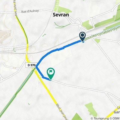 De 2 Avenue Jean-Baptiste, Sevran à 20 Avenue Liégeard, Sevran