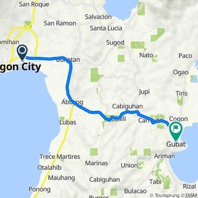 Pan-Philippine Highway, Sorsogon City to Junction Abuyog - Gubat - Ariman Road