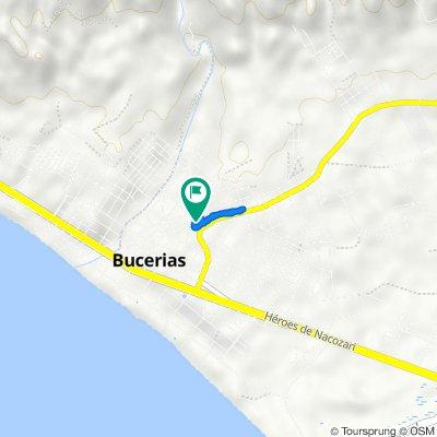 Ruta desde Corona 15, Bucerías