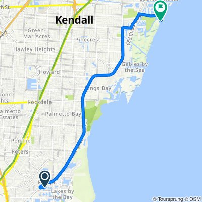 Route from 20425 Old Cutler Rd, Cutler Bay