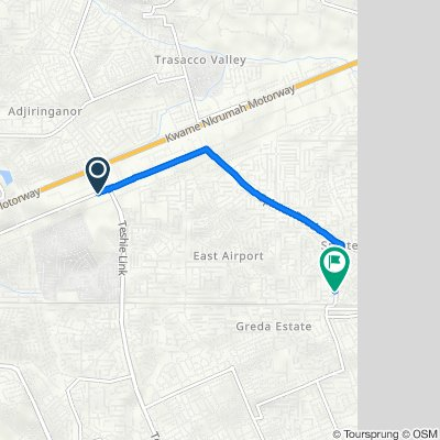 Spintex Road, Accra to Baatsonaa Road, Accra