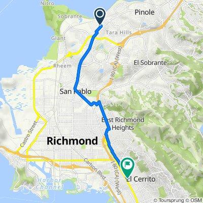 136 Marguerite Dr, Montalvin to 6400 Manila Ave, El Cerrito