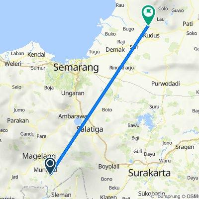 Bakalan, Kecamatan Muntilan to Jalan Trunojoyo, Kecamatan Gebog