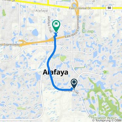 1987 S Alafaya Trail, Orlando to 457 N Alafaya Trail, Orlando