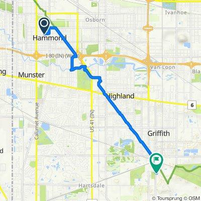 1038 E 170th Pl, Hammond to 524 S Lafayette St, Griffith
