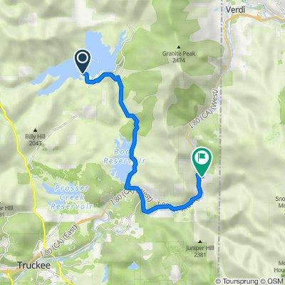 Route to 22233 Cedar St, Floriston