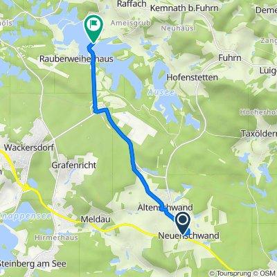 Pfarrer-Breu-Straße 11, Bodenwöhr nach Sonnenrieder Straße, Wackersdorf