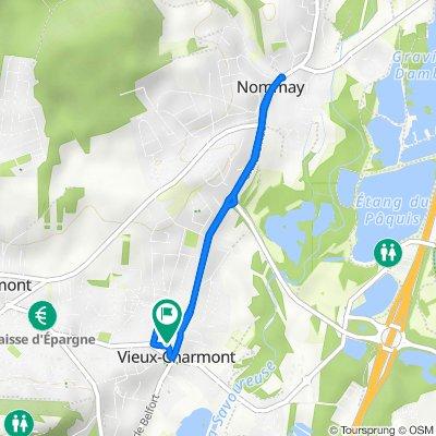 De Rue du Coinot 6, Vieux-Charmont à Rue du Coinot 10, Vieux-Charmont