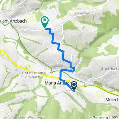 Maria Anzbach Bahnhof nach Weiningergasse 1